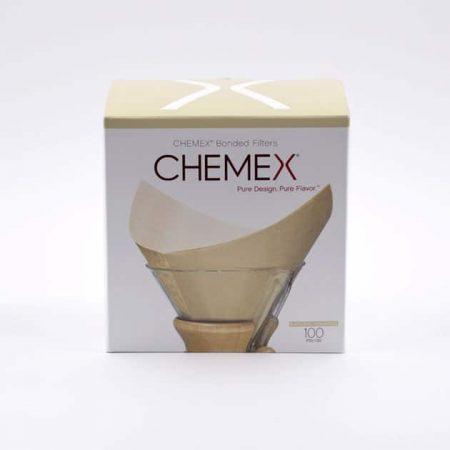 100 Filtros Cuadrados de Papel Natural Chemex BBarista