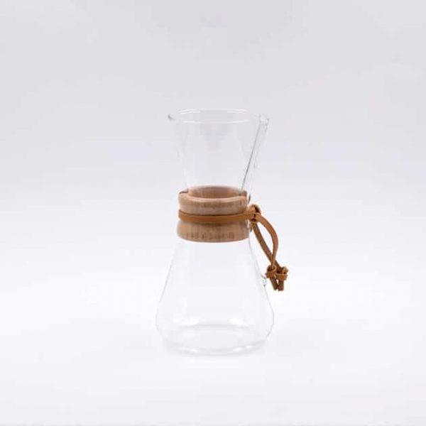Cafetera de Filtro con Collar de Madera 3 Tazas Chemex BBarista