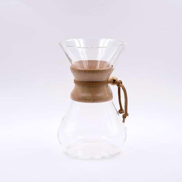 Cafetera de Filtro con Collar de Madera 8 Tazas Chemex BBarista
