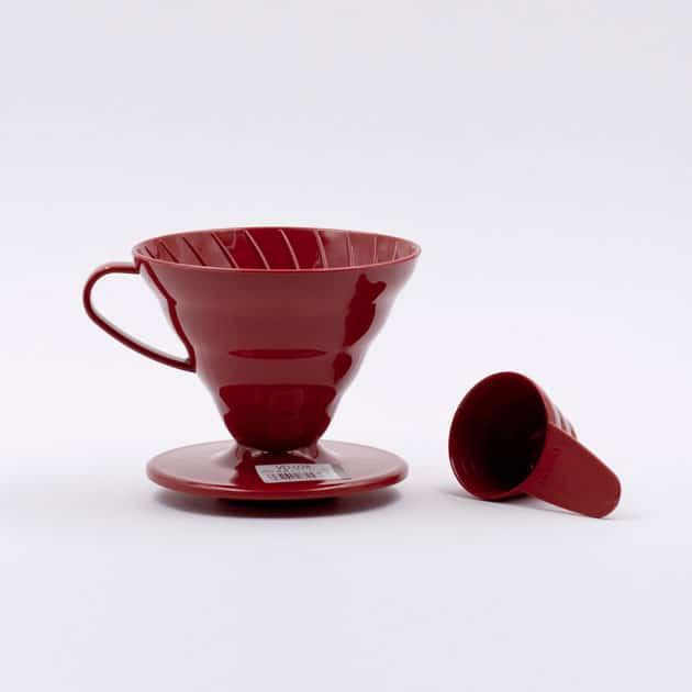 Cono de Goteo Plástico Rojo V60 02 Hario BBarista