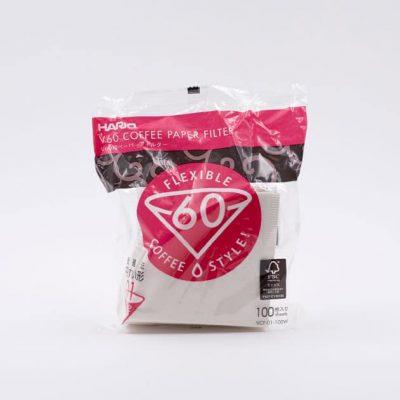 Filtros de Papel Blanco para Cafeteras de Goteo 01 Hario BBarista