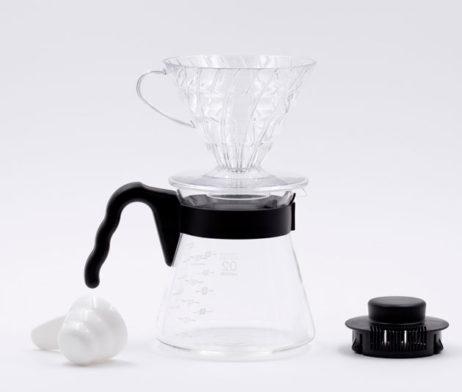 Dripper Coffee Café Completo Porta Filtro de Plástico Jarra Cristal Hario BBarista