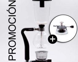 Promoción Para Baristas Profesionales Cafetera Sifón y Quemador BBarista