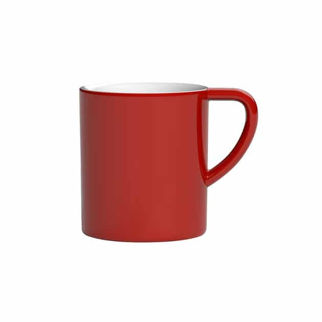 Taza para Café con Leche Negro Bond 300ml Loveramics Red BBarista