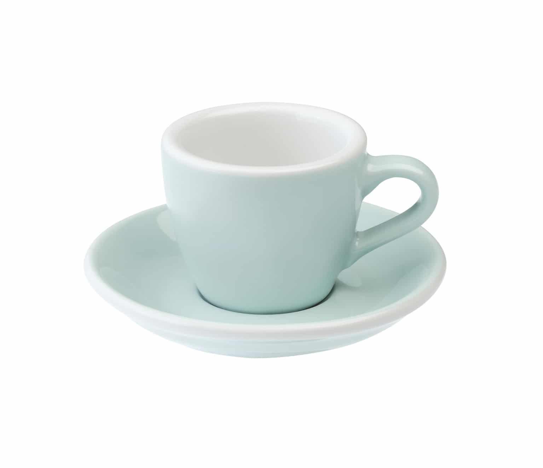 Tazas para caf espresso celeste egg 80ml loveramics river for Tazas de te inglesas