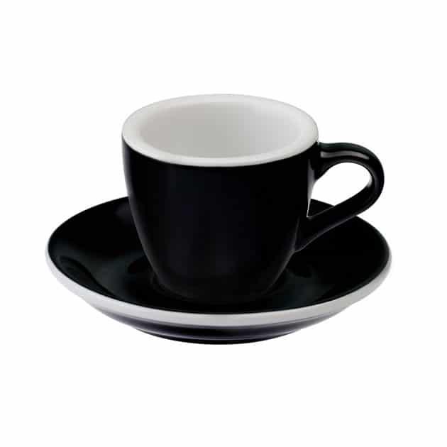 Taza para Café Espresso Negra Egg 80ml Loveramics Black BBarista