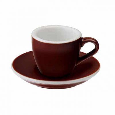 Taza para Café Espresso Marrón Egg 80ml Loveramics Brown BBarista
