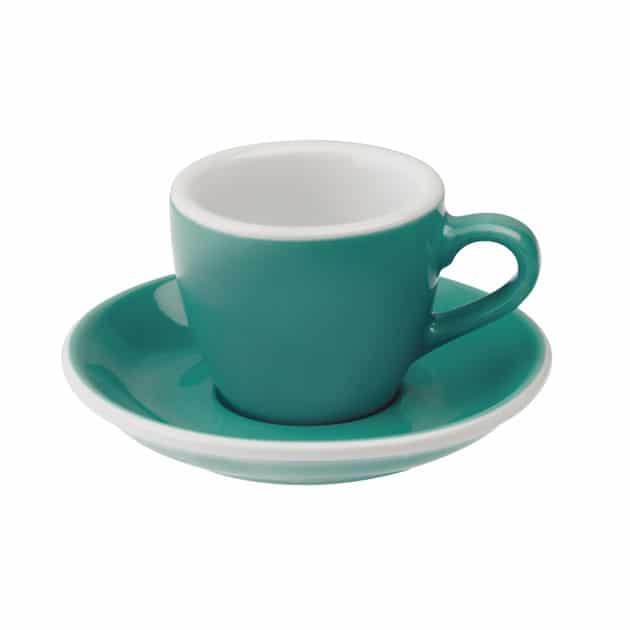 Taza para caf espresso turquesa egg 80ml loveramics teal for Tazas para cafe espresso