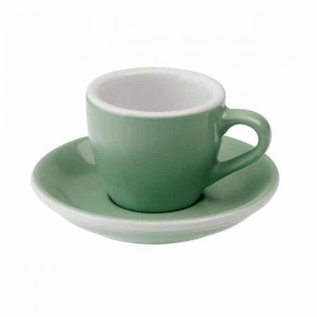 Taza para Café Espresso Verde Menta Egg 80ml Mint BBarista