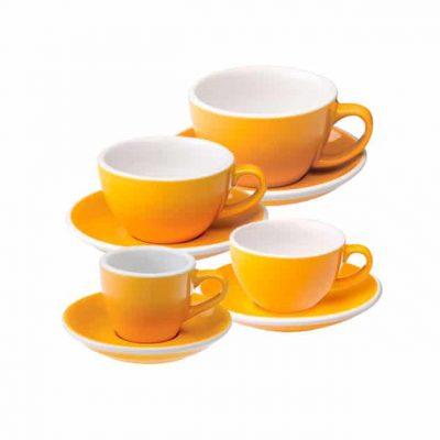 Tazas para Café Espresso Flat White Latte Art Cortado Capucciono Amarilla Loveramics Bbarista