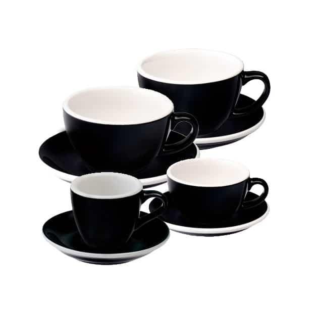 Tazas para Café Espresso Flat White Latte Art Cortado Capucciono Negra Loveramics Bbarista