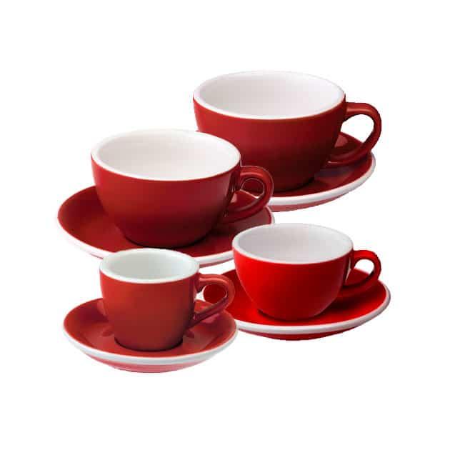 Tazas para Café Espresso Flat White Latte Art Cortado Capucciono Roja Loveramics Bbarista