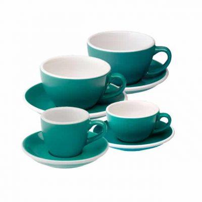 Tazas para Café Espresso Flat White Latte Art Cortado Capucciono Turquesa Loveramics Bbarista