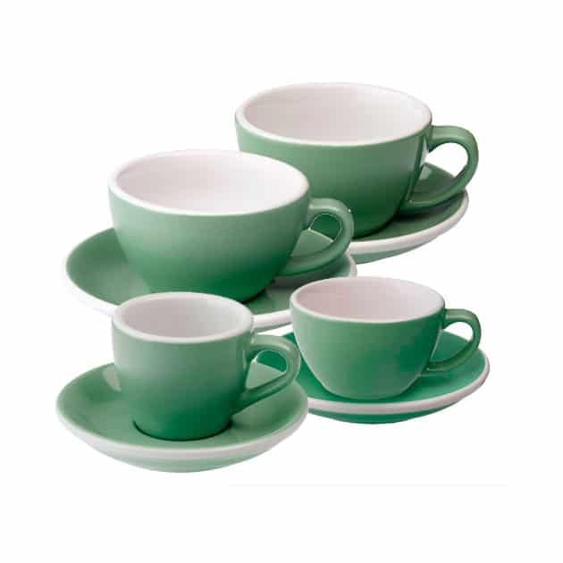 Tazas para Café Espresso Flat White Latte Art Cortado Capucciono Verde Menta Loveramics Bbarista