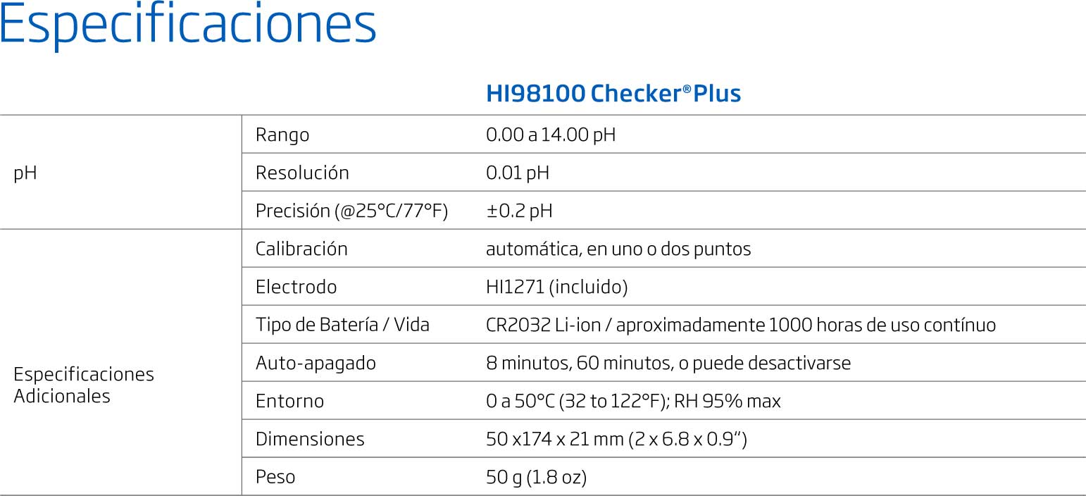 Tester de pH Checker Plus HI98100 Hanna BBarista