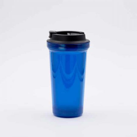 Mug Térmico para Café Azul Doble Pared Rivers Bbarista