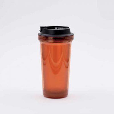 Mug Térmico para Café Naranja Doble Pared Rivers Bbarista
