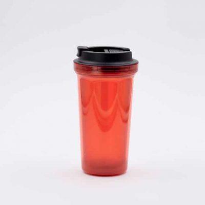 Mug Térmico para Café Rojo Doble Pared Rivers Bbarista