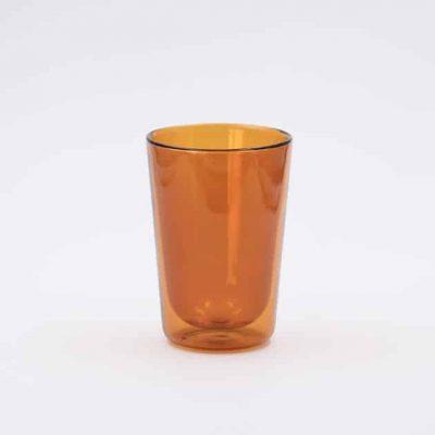 Vaso de Cristal Naranja 350ml Rivers
