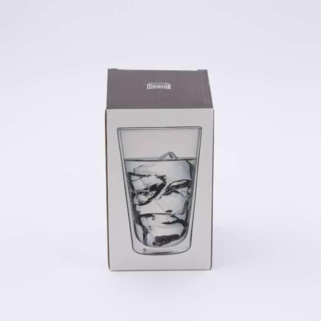 Vaso Vidrio Doble Transparente Bebidas Frías Refrescos Grande Rivers BBarista