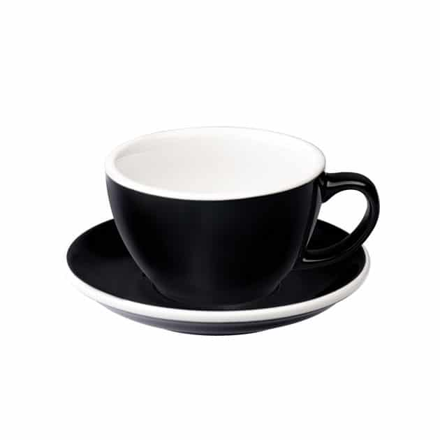 Taza para Café Latte Negra Leveramics BBarista