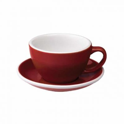 Taza para Café Latte Roja Loveramics BBarista