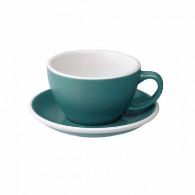 Taza para Café Latte Turquesa Loveramics BBarista