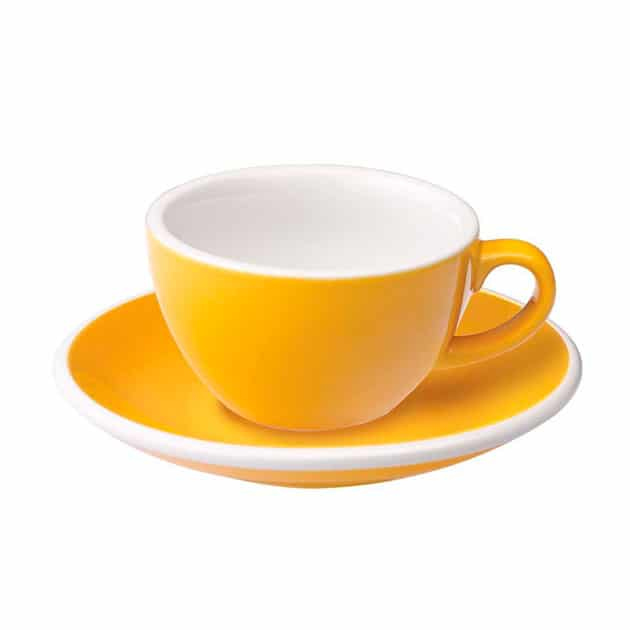 Taza para Café Flat White Amarilla 150ml