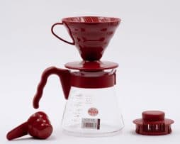 v60 Cafetera Plástico Roja Kit Hario BBarista